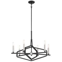 P1495-712 George Kovacs George Kovacs 6 Light 28 inch Sand Coal/Brushed Nickel Chandelier Ceiling Light