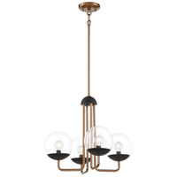 George Kovacs P1504-416 Outer Limits 4 Light 19 inch Painted Bronze/Natural Brush Chandelier Ceiling Light