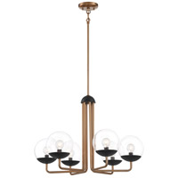 George Kovacs P1505-416 Outer Limits 6 Light 26 inch Painted Bronze/Natural Brush Chandelier Ceiling Light