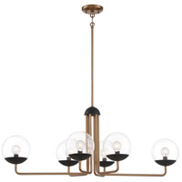 George Kovacs P1506-416 Outer Limits 6 Light 39 inch Painted Bronze/Natural Brush Island Lite Ceiling Light