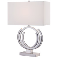 Signature 25 inch 100 watt Polished Nickel Table Lamp Portable Light