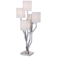 Signature 35 inch 40 watt Polished Nickel Table Lamp Portable Light