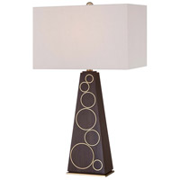 George Kovacs P1610-0 Portables 30 inch 100 watt Dark Walnut with Honey Gold Accents Table Lamp Portable Light