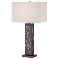 George Kovacs P1611-0 Portables 30 inch 100 watt Dark Walnut with Silver Accents Table Lamp Portable Light