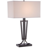 Signature 28 inch 100 watt Gun Metal Table Lamp Portable Light
