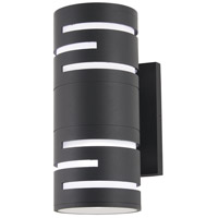 Groovin LED 12 inch Black Outdoor Wall Sconce