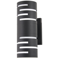 George Kovacs P1762-066-L Groovin LED 14 inch Black Outdoor Wall Sconce