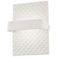 George Kovacs P1774-044B-L Quilted LED 10 inch Matte White Wall Sconce Wall Light