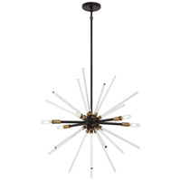 George Kovacs P1792-416 Spiked 6 Light 25 inch Painted Bronze with Natural Brush Pendant Ceiling Light