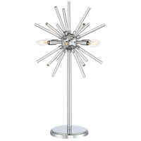 Spiked 31 inch 4 watt Chrome Table Lamp Portable Light