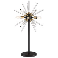 George Kovacs P1797-416-L Spiked 31 inch 4.00 watt Painted Bronze/Natural Brush Table Lamp Portable Light in Painted Bronze with Natural Brushed Brass