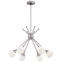 Pontil 6 Light 24 inch Brushed Nickel Chandelier Ceiling Light