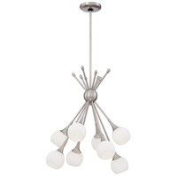 Pontil 8 Light 18 inch Brushed Nickel Chandelier Ceiling Light