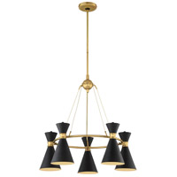 Conic 5 Light 26 inch Honey Gold Chandelier Ceiling Light