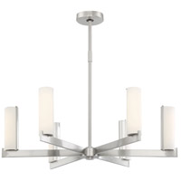 Tube LED 30 inch Brushed Nickel Chandelier Ceiling Light