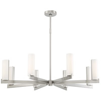 George Kovacs P1858-084-L Tube LED 38 inch Brushed Nickel Chandelier Ceiling Light