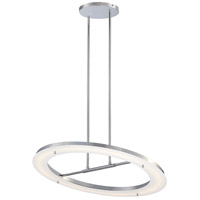 George Kovacs P1900-077-L Twist And Shout LED 25 inch Chrome Pendant Ceiling Light