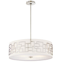 Alecias Necklace 4 Light 24 inch Brushed Nickel Drum Pendant Ceiling Light