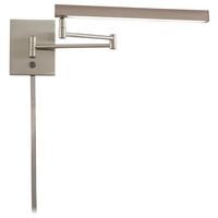 George Kovacs P266-1-084-L Madake 3 inch 13 watt Brushed Nickel Swing Arm Wall Sconce Wall Light Convertible To Pin-Up