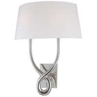 Signature 2 Light 19 inch Silver Plated Wall Sconce Wall Light