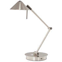 George Kovacs P2974-1-084-L Georges Reading Room 8 watt Brushed Nickel Table Lamp Portable Light