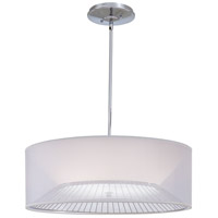 Signature 3 Light 25 inch Chrome Drum Pendant Ceiling Light