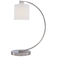 Park 22 inch 60 watt Brushed Nickel Table Lamp Portable Light
