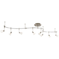 GK Lightrail 8 Light Brushed Nickel Monorail Kit Ceiling Light, Low Voltage