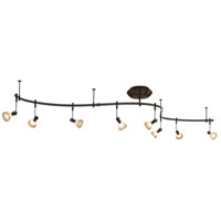 GK Lightrail 8 Light Sable Bronze Patina Monorail Kit Ceiling Light, Low Voltage