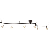 GK Lightrail 6 Light 12V Sable Bronze Patina Monorail Kit Ceiling Light, Low Voltage
