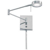 Georges Reading Room LED 14 inch Chrome Swing Arm Wall Sconce Wall Light