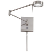 Georges Reading Room LED 14 inch Brushed Nickel Swing Arm Wall Sconce Wall Light