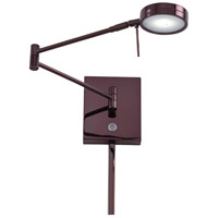 Georges Reading Room LED 14 inch Chocolate Chrome Swing Arm Wall Sconce Wall Light