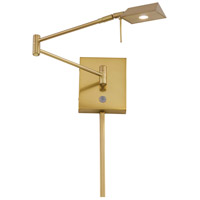 George Kovacs P4318-248 Georges Reading Room 5 inch 8 watt Honey Gold Pharmacy Swing Arm Wall Lamp Wall Light