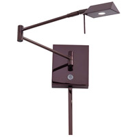 Georges Reading Room 5 inch 8 watt Chocolate Chrome Pharmacy Swing Arm Wall Lamp Wall Light