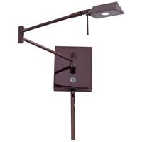 George Kovacs P4318-631 Georges Reading Room 5 inch 8 watt Chocolate Chrome Pharmacy Swing Arm Wall Lamp Wall Light