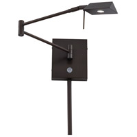 Georges Reading Room LED 14 inch Copper Bronze Patina Swing Arm Wall Sconce Wall Light