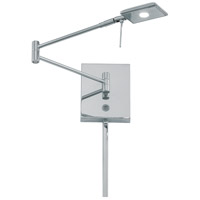 George Kovacs P4328-077 Georges Reading Room 5 inch 8 watt Chrome Pharmacy Swing Arm Wall Lamp Wall Light