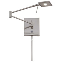 George Kovacs P4328-084 George's Reading Room LED 14 inch Brushed Nickel Pharmacy Wall Lamp Wall Light