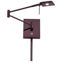 George Kovacs P4328-631 Georges Reading Room 5 inch 8 watt Chocolate Chrome Pharmacy Swing Arm Wall Lamp Wall Light