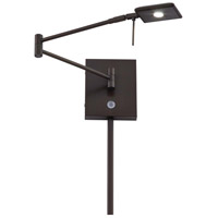George Kovacs P4328-647 Georges Reading Room 5 inch 8 watt Copper Bronze Patina Pharmacy Swing Arm Wall Lamp Wall Light
