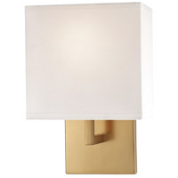 George Kovacs P470-248 Signature 1 Light 7 inch Honey Gold ADA Wall Sconce Wall Light in Off White Fabric Incandescent