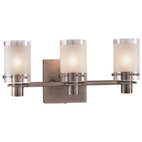 Chimes 3 Light 16 inch Antique Nickel Bath Bar Wall Light