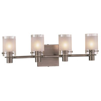 George Kovacs P5004-056 Chimes 4 Light 23 inch Antique Nickel Bath Bar Wall Light