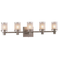 Chimes 5 Light 29 inch Antique Nickel Bath Bar Wall Light