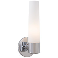 George Kovacs P5041-077 Saber 1 Light 5 inch Chrome Wall Sconce Wall Light in Etched Opal, Incandescent