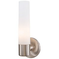 George Kovacs P5041-084 Saber 1 Light 5 inch Brushed Nickel Wall Sconce Wall Light in Etched Opal Incandescent