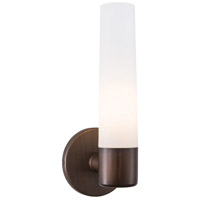 George Kovacs P5041-647B Saber 1 Light 5 inch Painted Copper Bronze Patina Wall Sconce Wall Light in Etched Opal Incandescent