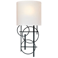 George Kovacs P5131-066 Signature 1 Light 8 inch Black Wall Sconce Wall Light