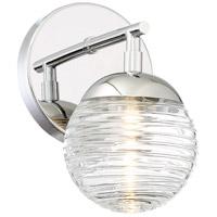 George Kovacs P5271-613-L Vemo LED 5 inch Polished Nickel Bath Light Wall Light